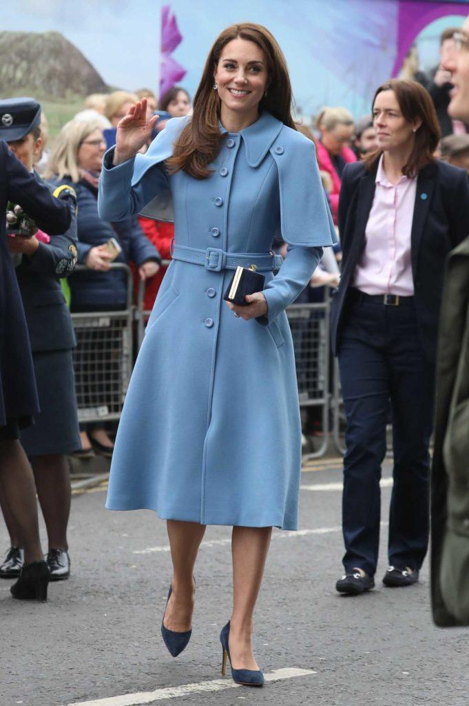 Kate Middleton in a Blue Coat