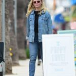 Kirsten Dunst in a Blue Denim Jacket Goes Shopping Out in LA
