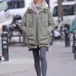 Naomi Watts in a Gray Puffer Jacket Was Seen Out in New York