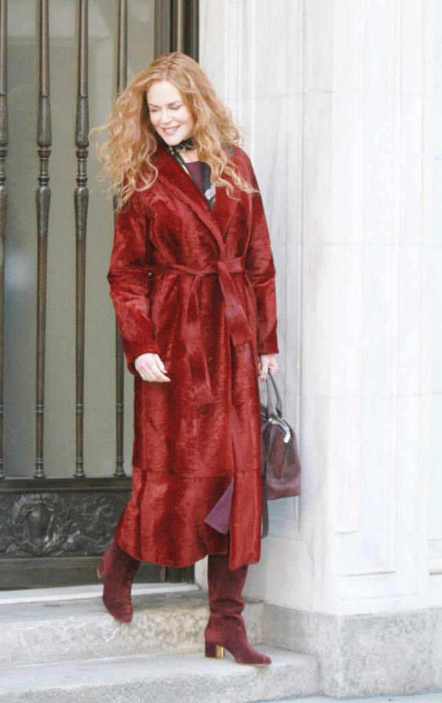 Nicole Kidman in a Red Coat