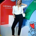 Joy Corrigan Attends the Lacoste x Keith Haring Collaboration Launch at Pioneer Works in NYC