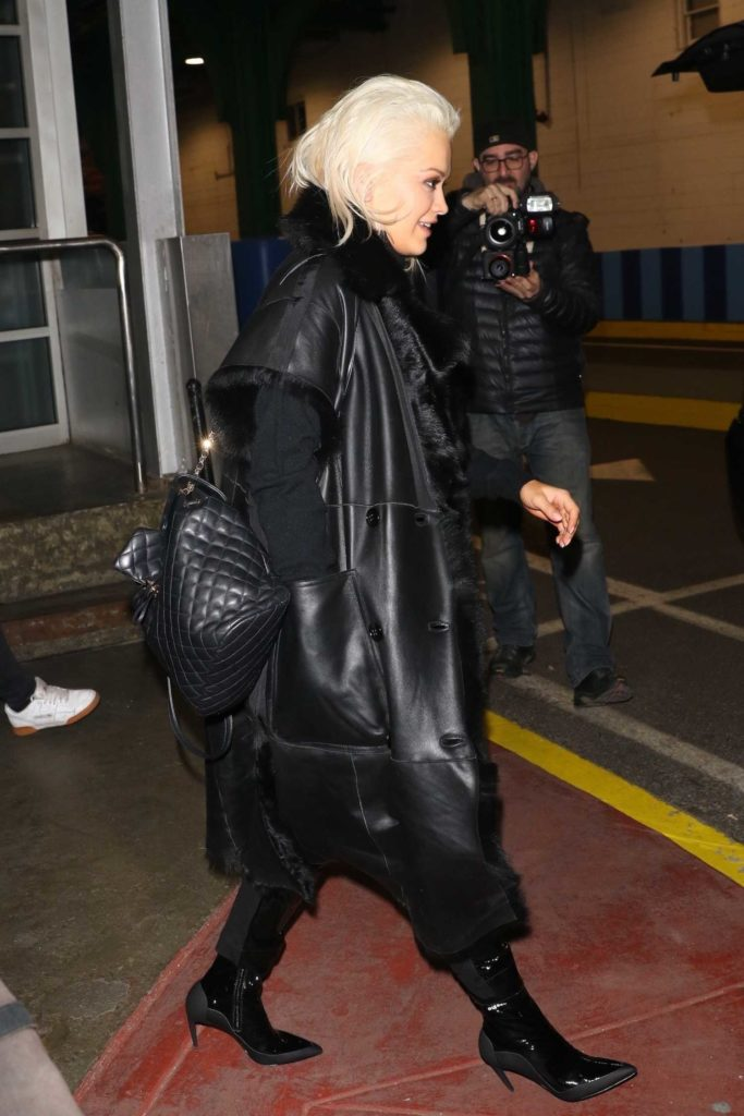 Rita Ora in a Black Coat