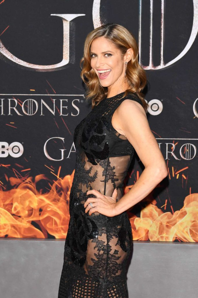 andrea savage attends the game of thrones season 8