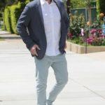 Ben Affleck in a Gray Blazer Was Seen Out in LA