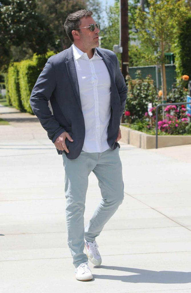 Ben Affleck in a Gray Blazer