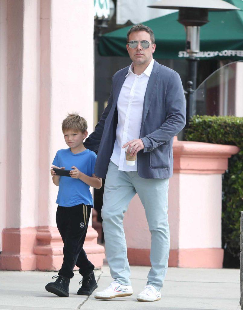 Ben Affleck in a Gray Blazer