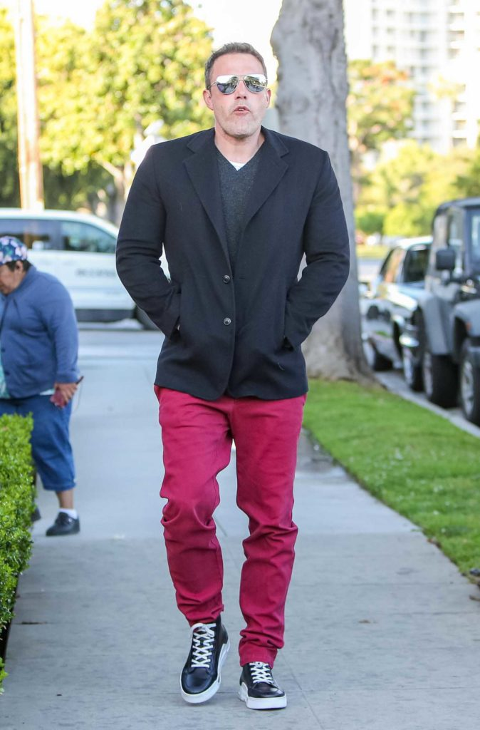 Ben Affleck in a Red Pants