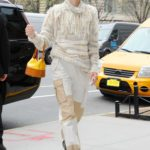 Jaime King in a Beige Pants Was Seen Out in New York