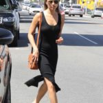 Jamie Chung in a Black Dress Was Seen Out in Los Angeles