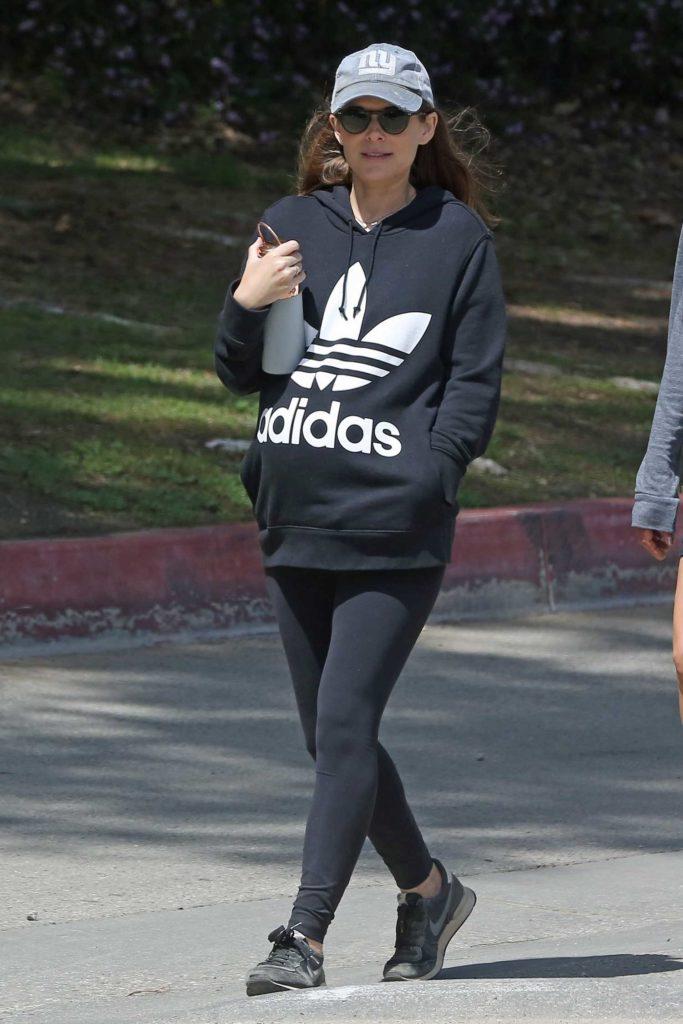 Kate Mara in a Black Adidas Hoody