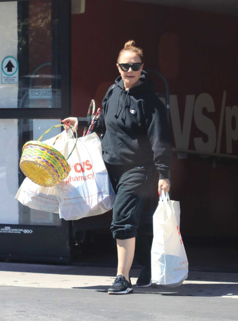 Leah Remini in a Black Hoody