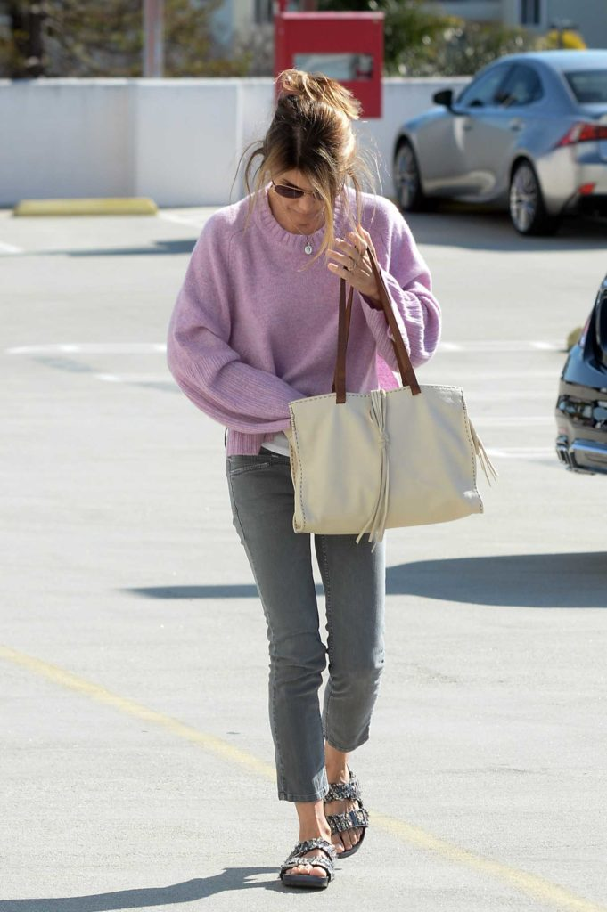 Lori Loughlin in a Purple Sweater