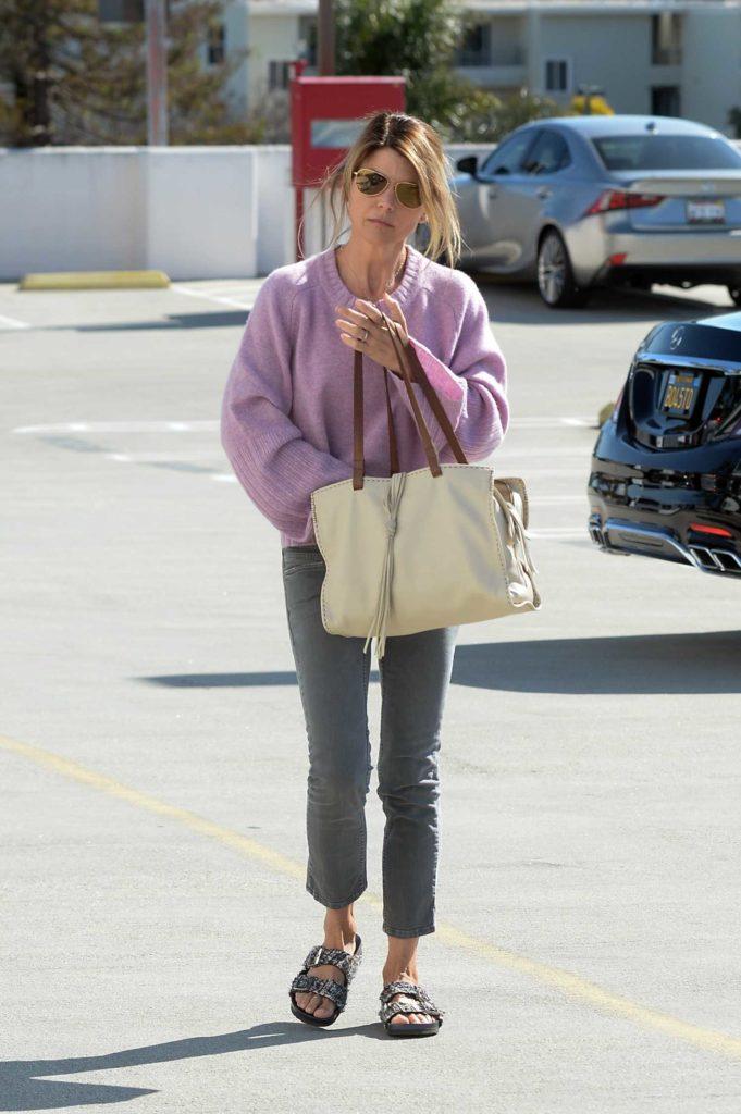 Lori Loughlin in a Purple Sweater