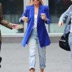Maria Menounos in a Blue Blazer Was Seen Out in New York