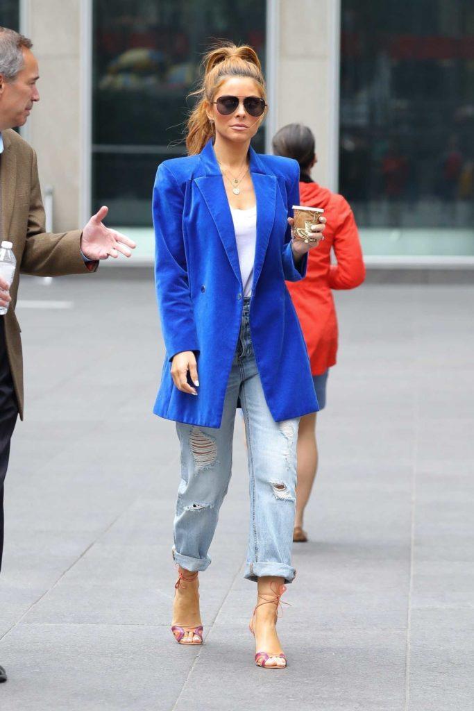 Maria Menounos in a Blue Blazer