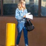Suki Waterhouse in a Blue Denim Jacket Was Seen Out in LA