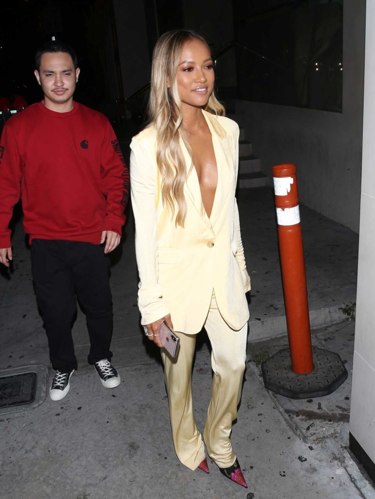 Karrueche Tran in a Yellow Suit