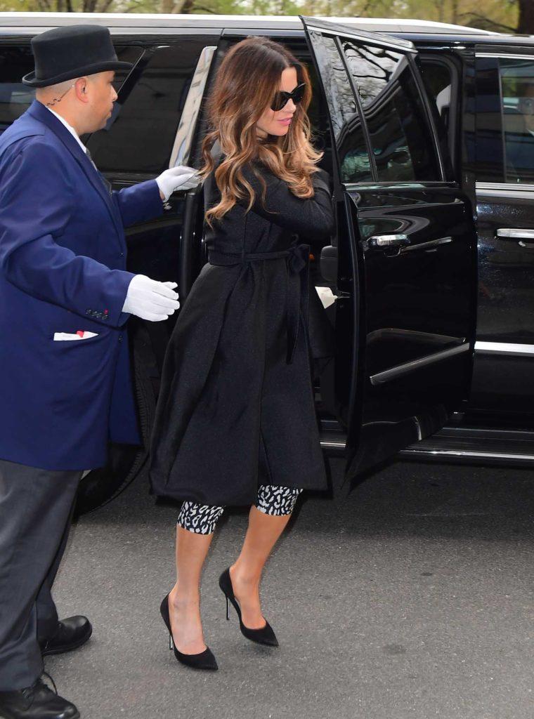 Kate Beckinsale in a Black Coat