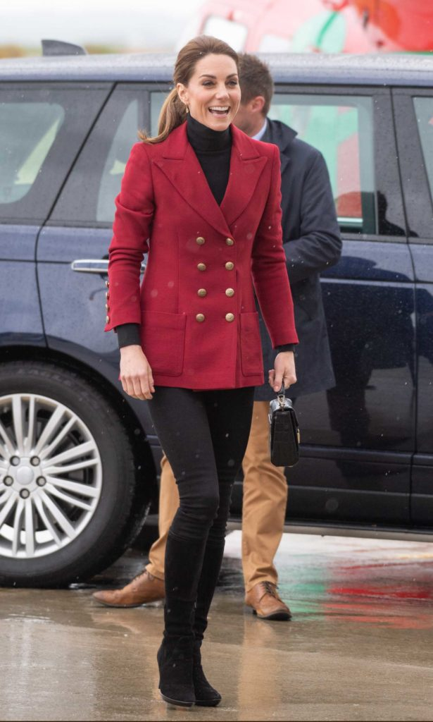 Kate Middleton in a Red Blazer