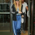 Kathryn Newton in a Blue Track Pants Was Seen Out with a Friend in NYC