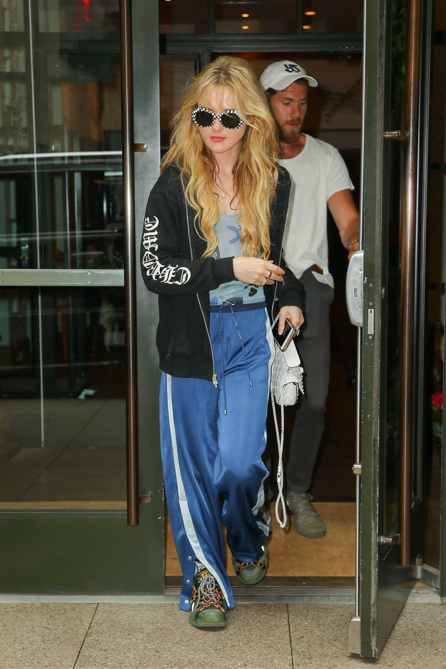 Kathryn Newton in a Blue Track Pants Was Seen Out with a ...