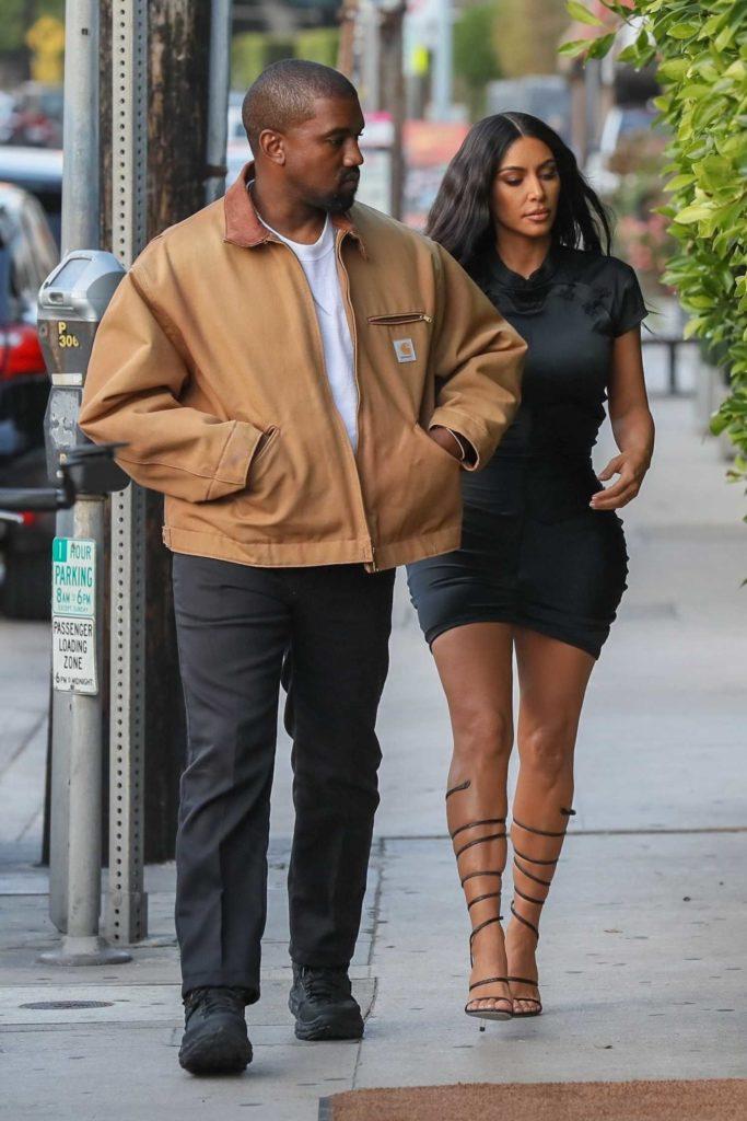 Kim Kardashian Out With Kanye West Arrives At Giorgio