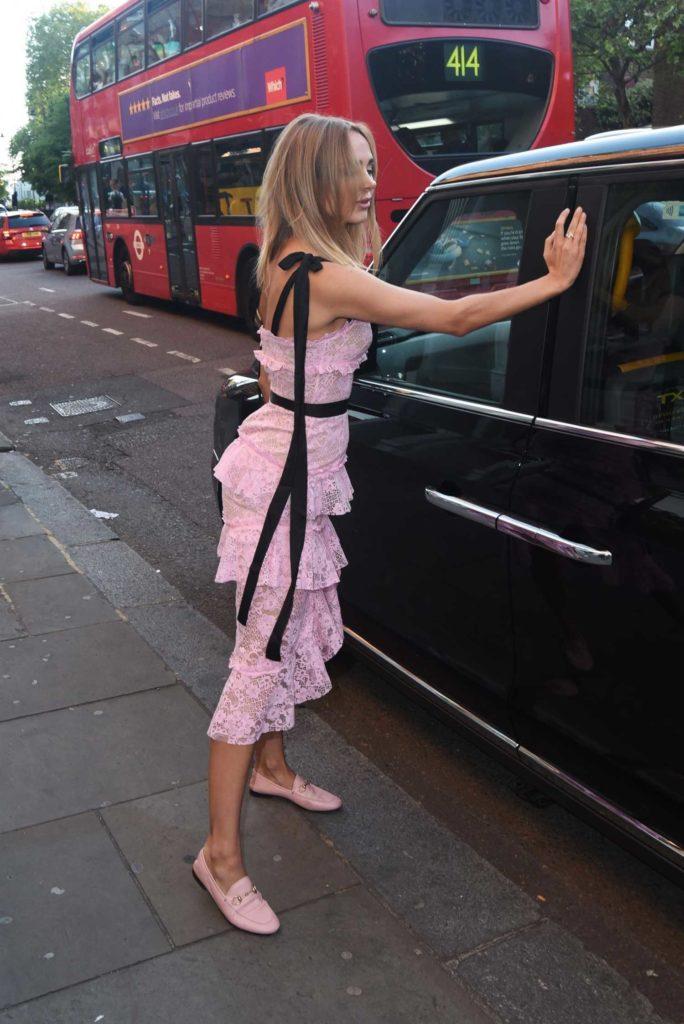 Kimberley Garner in a Pink Dress