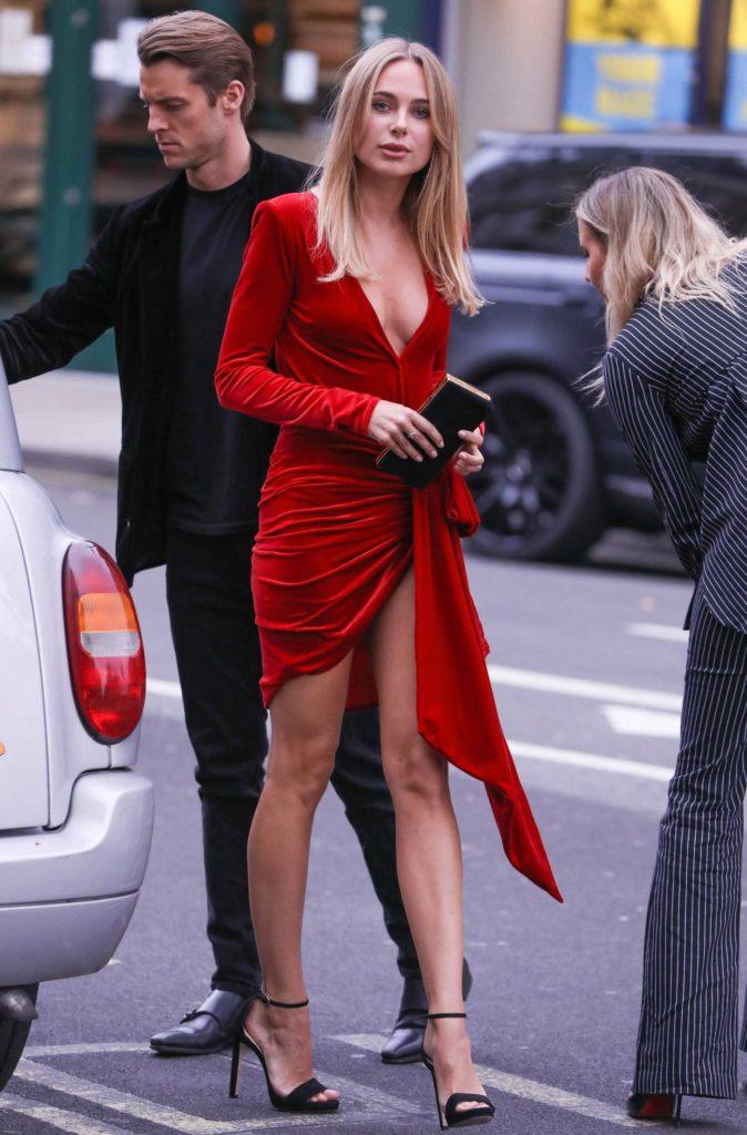 Kimberley Garner in a Red Dress