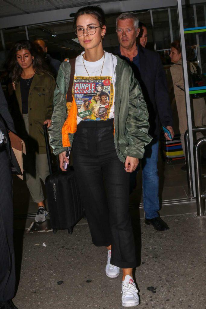 Lena Meyer-Landrut in a Green Bomber Jacket