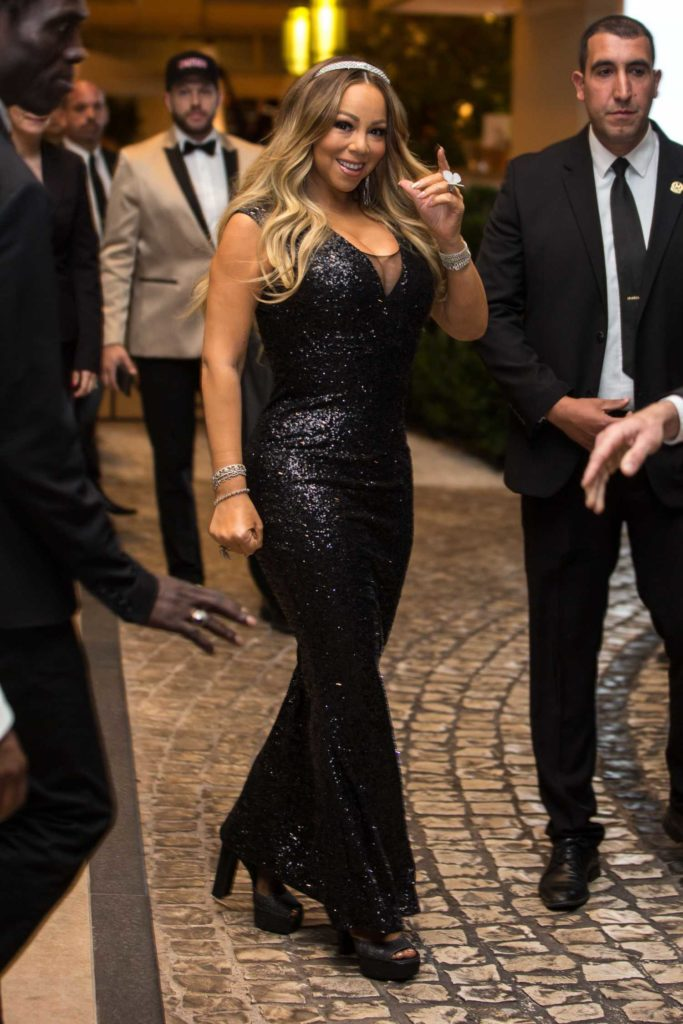 Mariah Carey in a Black Dress