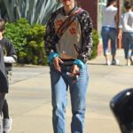 Natalie Portman in a Blue Jeans Was Seen Out in LA