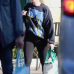 Rooney Mara in a Black Sweatshirt Goes Shopping in Studio City