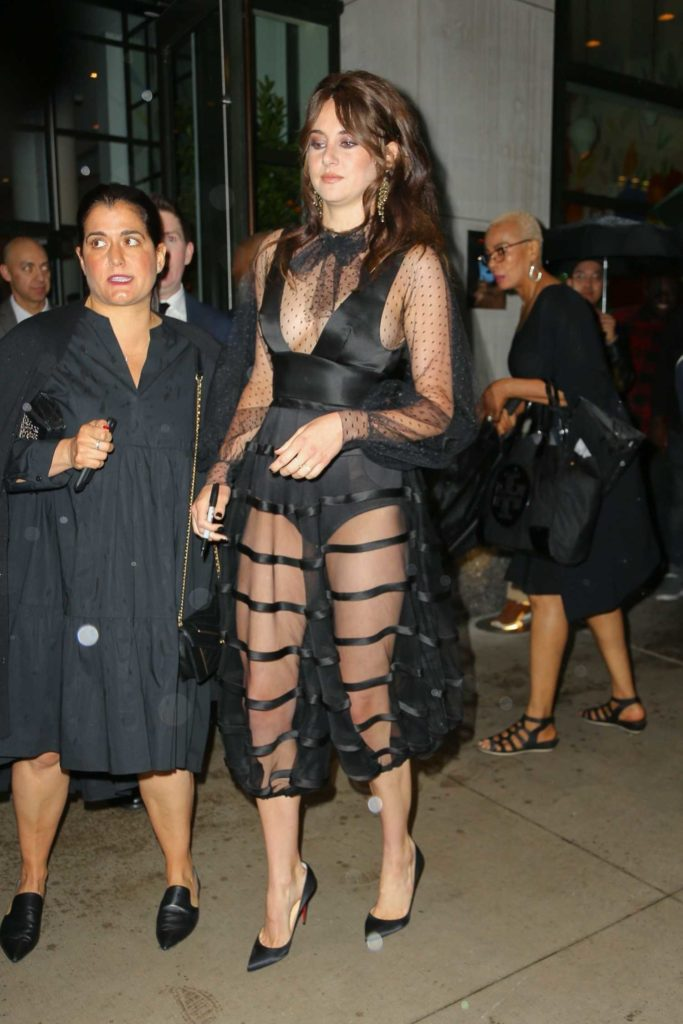Shailene Woodley In A Black See Through Dress Leaves The