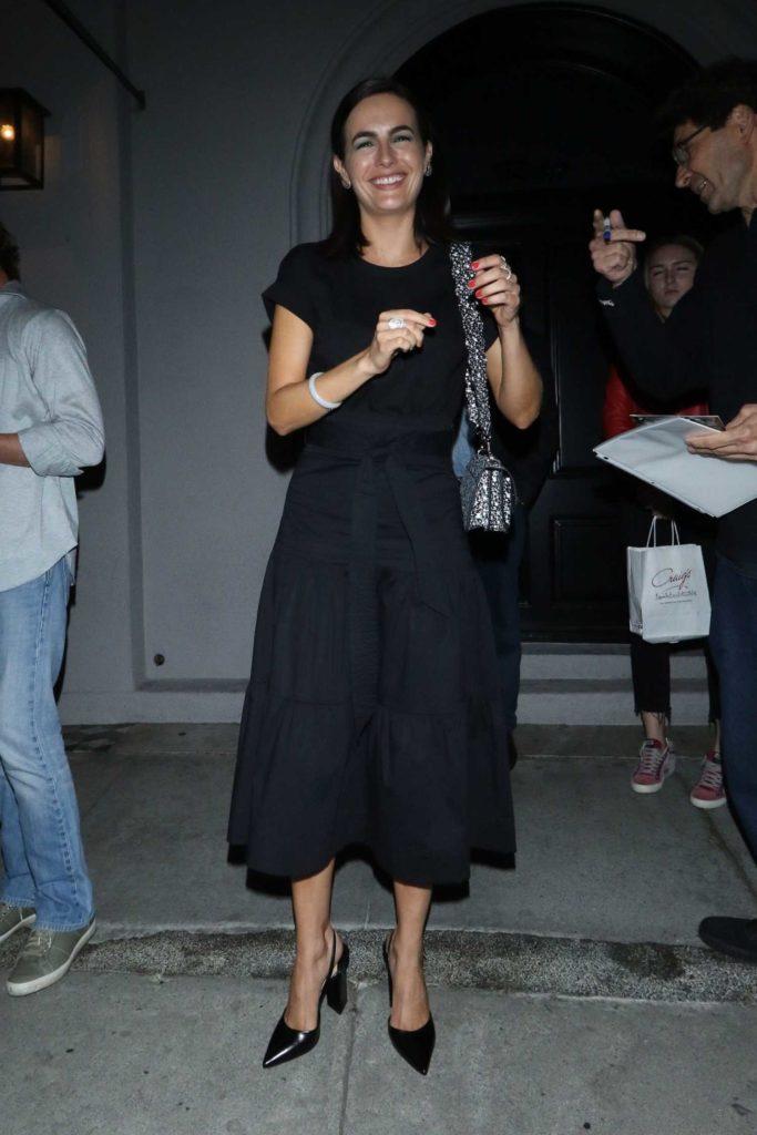 Camilla Belle in a Black Dress