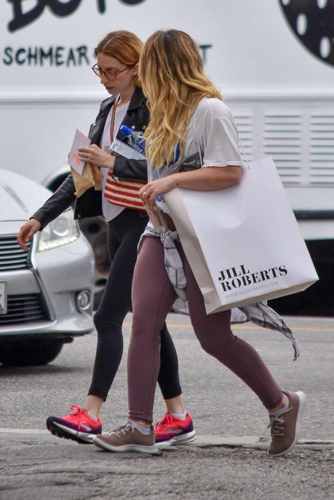 Hilary Duff in a White Tee