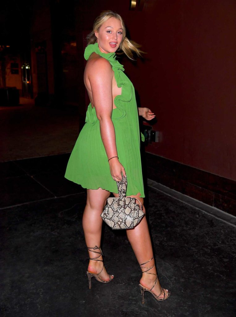 Iskra Lawrence in a Green Dress
