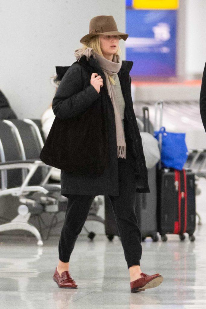 Jennifer Lawrence in a Brown Hat