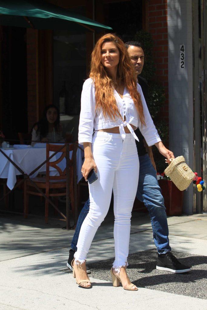 Maria Menounos in a White Blouse