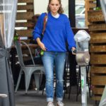Natalie Portman in a Blue Sweater Was Seen Out in Los Feliz