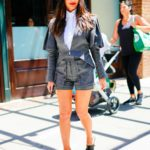 Olivia Munn in a Gray Suit Was Seen Out in New York City