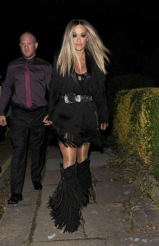 Rita Ora in a Black Dress