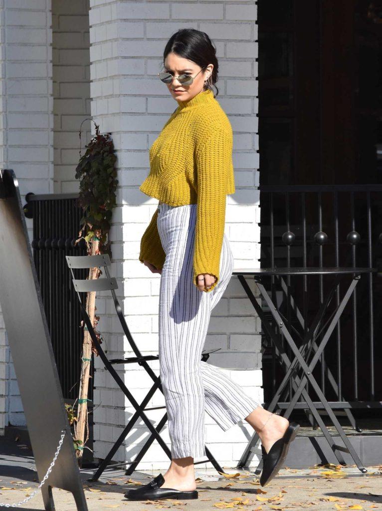 Vanessa Hudgens in a Yellow Sweater