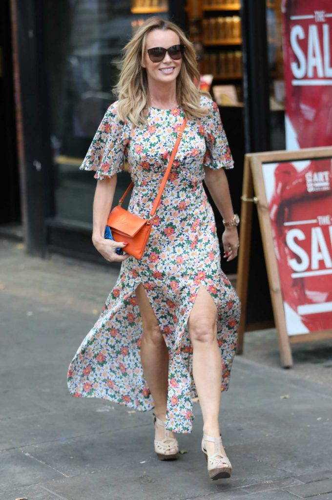 Amanda Holden in a Floral Dress