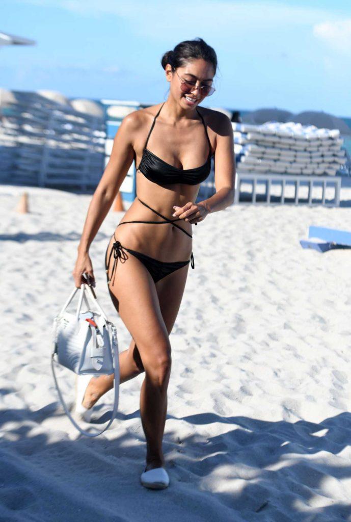 Ambra Gutierrez in a Black Bikini