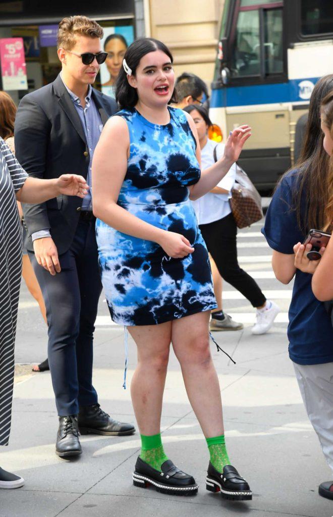 Barbie Ferreira in a Blue Dress