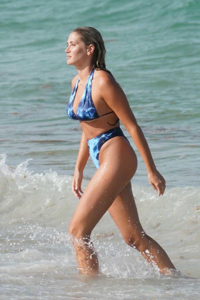 Francesca Aiello in a Blue Bikini