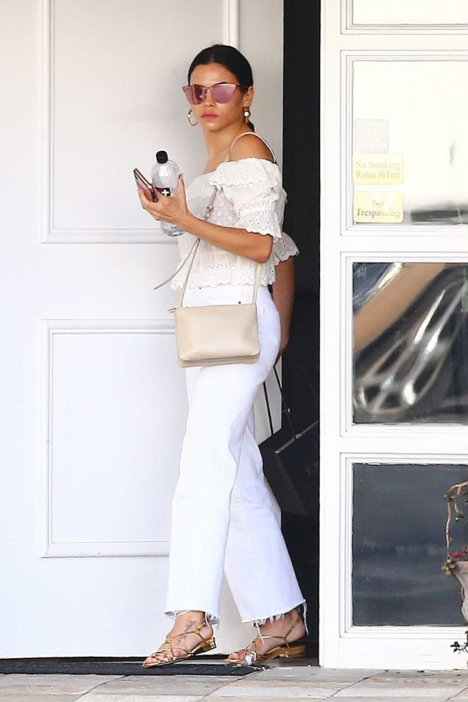 Jenna Dewan in a White Blouse