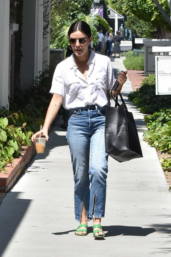 Lucy Hale in a White Shirt