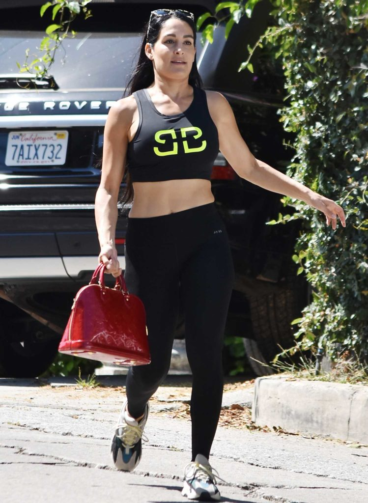 Nikki Bella in a Black Leggings