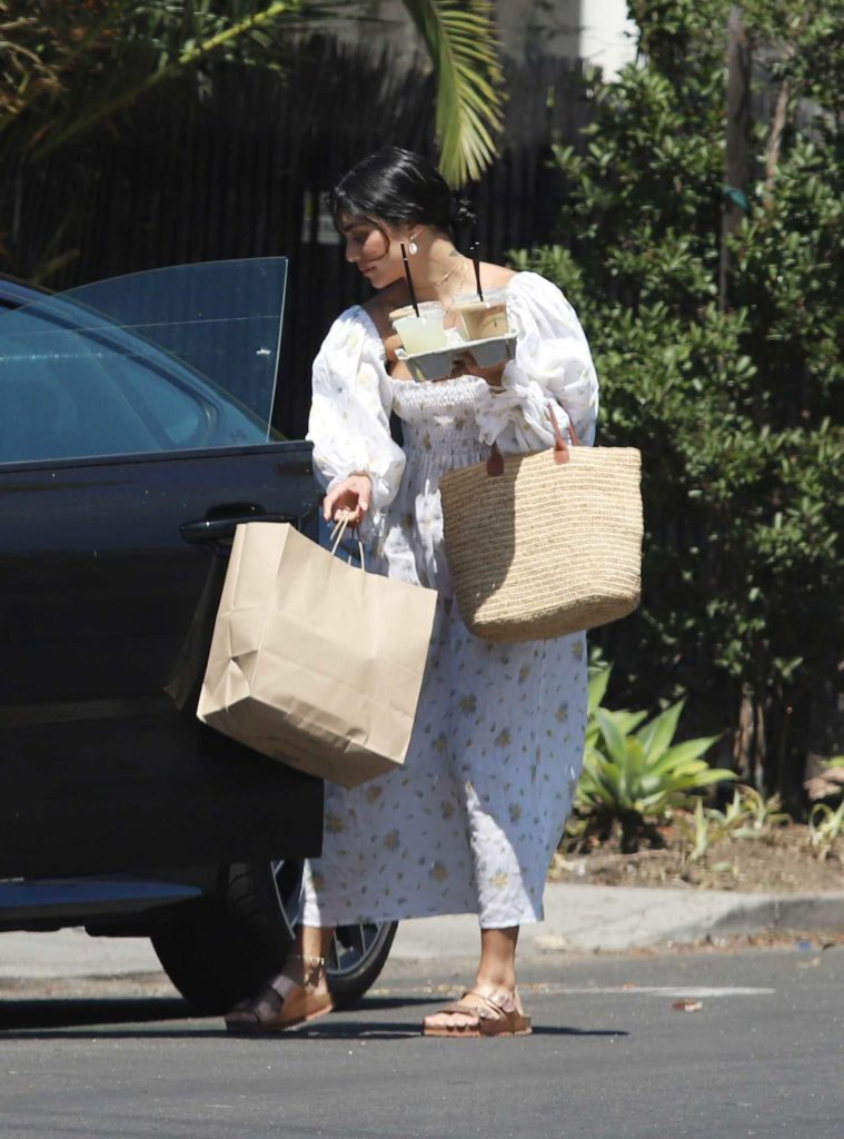 Vanessa Hudgens in a White Floral Dress